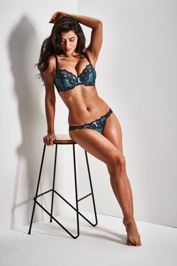 Brazillian Ray modelling Lingerie