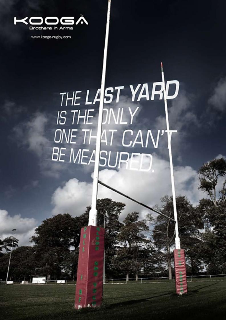 Kooga A4 Last yard Ad