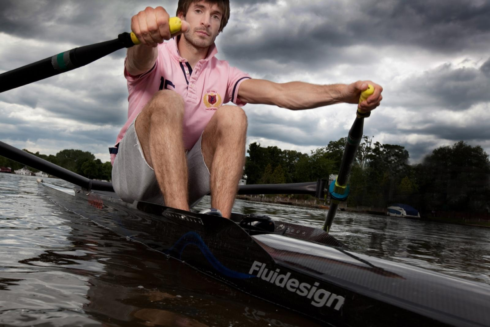 On the Thames Olympic Rower